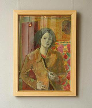 Aleksandra Waliszewska - Self-portrait in the studio