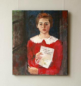 Katarzyna Karpowicz : Juvenile self-portrait : Oil on Canvas