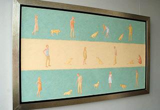Mikołaj Kasprzyk : Walk the dog : Oil on Canvas