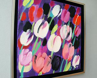 Beata Murawska : The floral toast : Oil on Canvas
