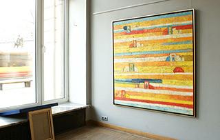 Darek Pala : Swimming pool : Oil on Canvas
