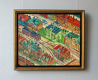 Edward Dwurnik : Pabianice : Oil on Canvas