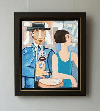 Krzysztof Kokoryn : Jazz Cafe : Oil on Canvas