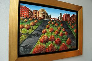 Adam Patrzyk : Central park : Oil on Canvas
