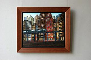 Adam Patrzyk : Train : Oil on Canvas