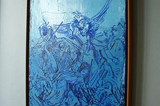 Jacek Łydżba : Fight angels after Durrer : Oil on Canvas