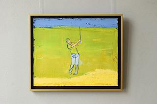 Jacek Łydżba : Golfer : Oil on Canvas
