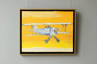Jacek Łydżba : Old biplane : Oil on Canvas