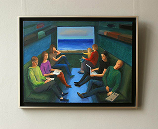 Katarzyna Karpowicz : Trip to the seaside : Oil on Canvas
