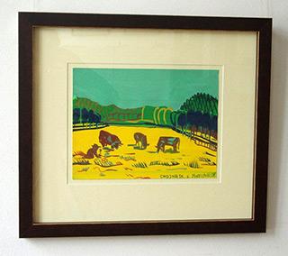 Edward Dwurnik : Cows : Watercolour on Paper