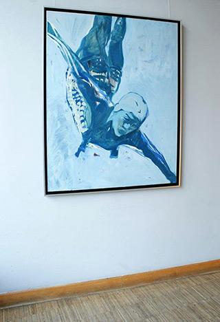 Katarzyna Swinarska : Jump : Oil on Canvas