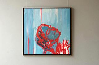 Katarzyna Swinarska : Scene in the shower : Oil on Canvas