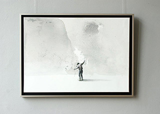 Łukasz Huculak : Man with rope : Oil on Canvas