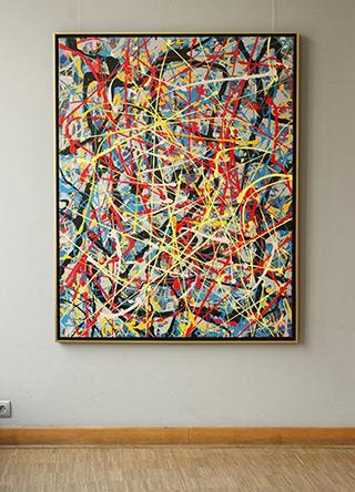 Edward Dwurnik : Painting No. 12-2615 Series XXV Year 2000 : Oil on Canvas