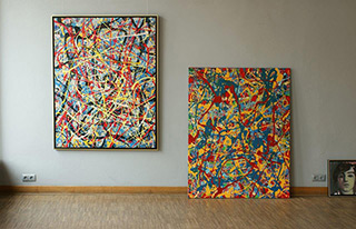 Edward Dwurnik : Paintings No. 12 & 216 : Oil on Canvas