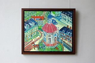 Edward Dwurnik : Warsaw New Town : Oil on Canvas