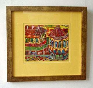 Edward Dwurnik : Yellow Grojec : Watercolour on Paper