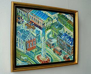 Edward Dwurnik : Warsaw Targowa Street : Oil on Canvas