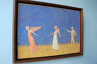 Mikołaj Kasprzyk : Painting of an angel : Oil on Canvas