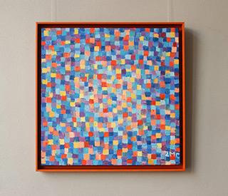 Zofia Matuszczyk-Cygańska : Blue - orange mosaic : Oil on Canvas