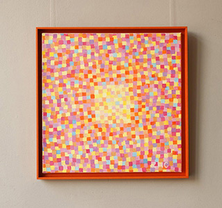 Zofia Matuszczyk-Cygańska : Bright orange mosaic : Oil on Canvas