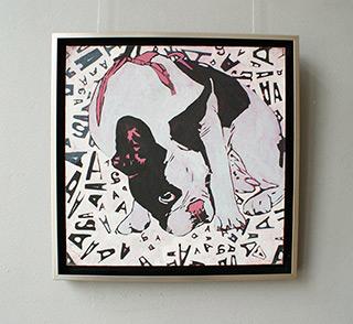 Agnieszka Sandomierz : Amor 1 : Tempera on canvas