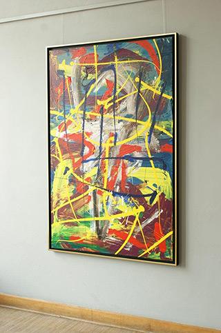 Edward Dwurnik : Painting No. 322-4882 Series XXV Year 2003 : Oil on Canvas