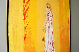 Jacek Łydżba : Lady and the flame : Oil on Canvas