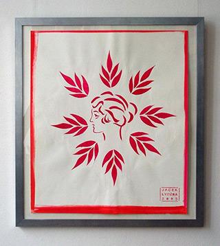 Jacek Łydżba : Proile : Stencil on Paper