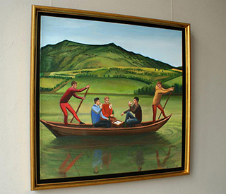 Katarzyna Karpowicz : Do not forget your lunch : Oil on Canvas