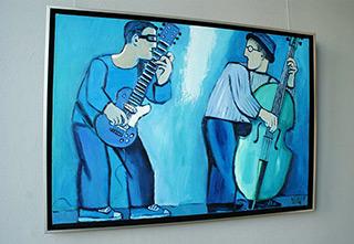 Krzysztof Kokoryn : Blue duo : Oil on Canvas
