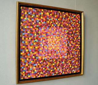 Zofia Matuszczyk-Cygańska : Red mosaic : Oil on Canvas