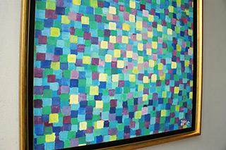 Zofia Matuszczyk-Cygańska : Turquoise mosaic : Oil on Canvas