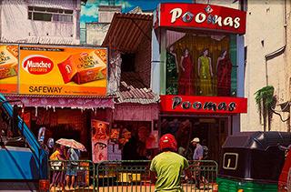 Andrzej Sadowski : Kandy Poomas shop 2011 : Acrylic on canvas