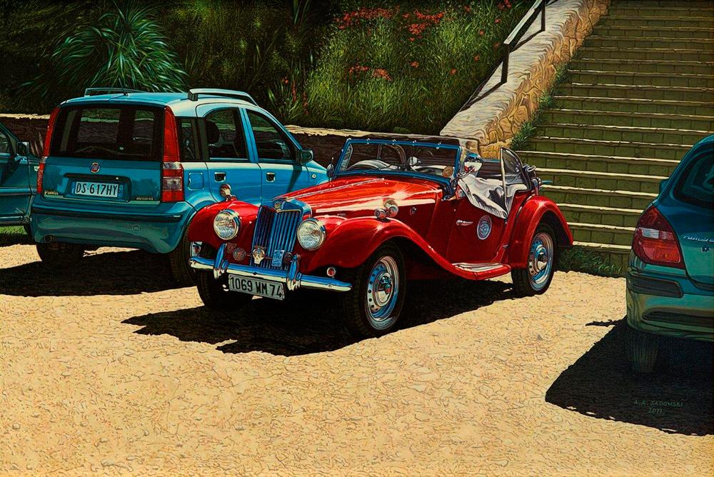 Andrzej Sadowski - Sicily, Villa del Casale MG car rally 2011
