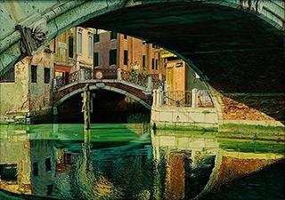 Andrzej Sadowski : Venice, Ponte San Pantalon 1999 : Acrylic on canvas