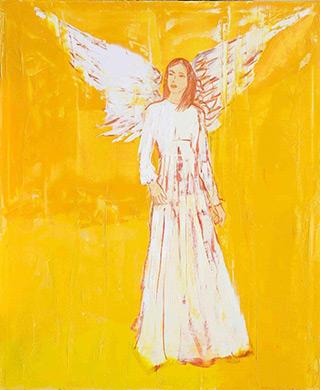 Jacek Łydżba : Angel IV : Oil on Canvas