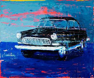 Jacek Łydżba : Black Wolga II : Oil on Canvas
