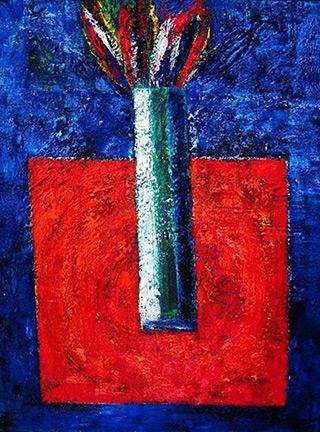 Darek Pala : Red Table : Oil on Canvas