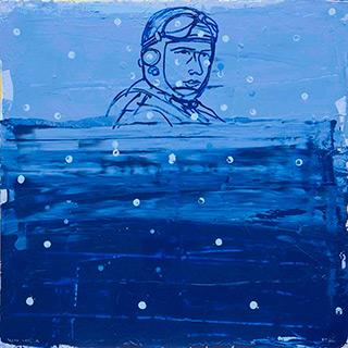 Jacek Łydżba : Pilot : Oil on Canvas