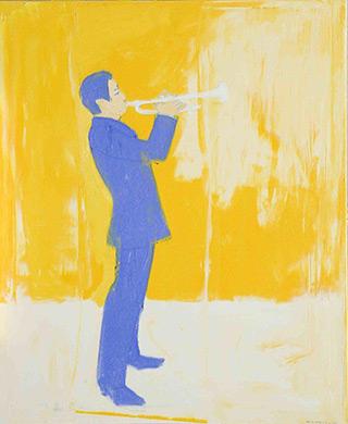 Jacek Łydżba : Trumpeter : Oil on Canvas