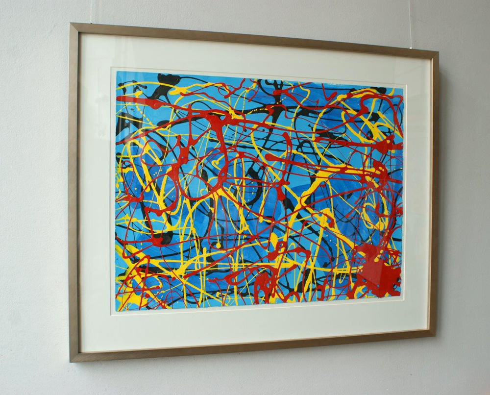 Edward Dwurnik : Blue abstract 2