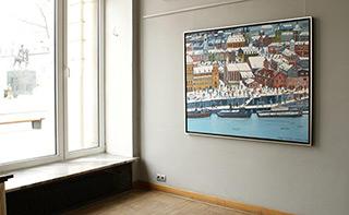 Edward Dwurnik : Prague in winter : Oil on Canvas