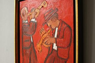 Krzysztof Kokoryn : Trumpet players : Oil on Canvas