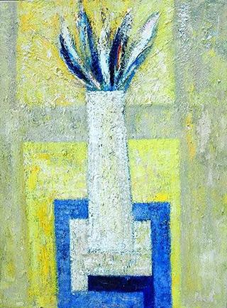 Darek Pala : White Vase : Oil on Canvas