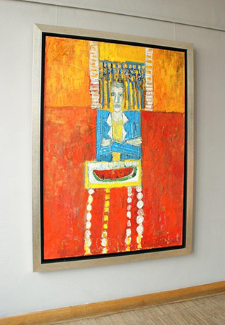 Darek Pala : Man with watermelon : Oil on Canvas