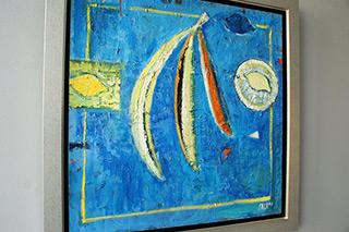 Darek Pala : Tropical breakfast : Oil on Canvas