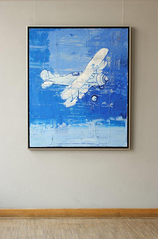 Jacek Łydżba : White plane : Oil on Canvas