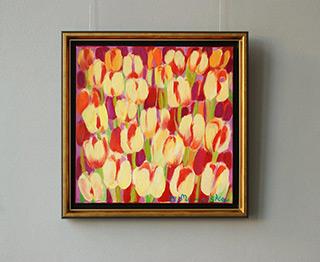 Beata Murawska : Golden tulips : Oil on Canvas