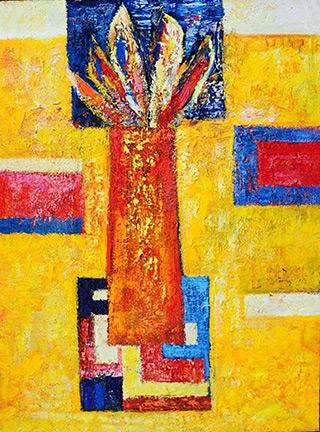 Darek Pala : Yellow Room : Oil on Canvas